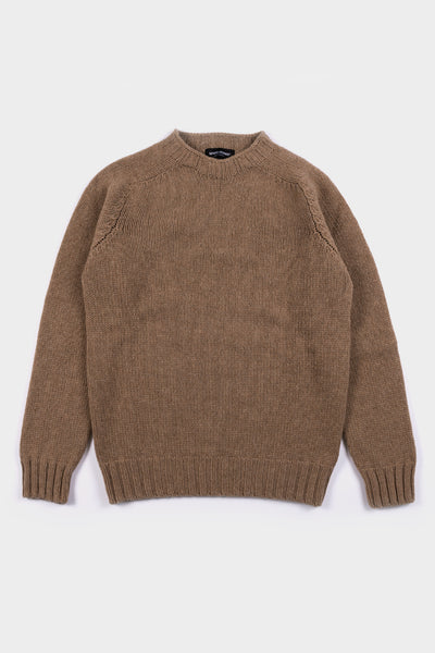 Seven.Stones Mens Crew Knit Dark Natural