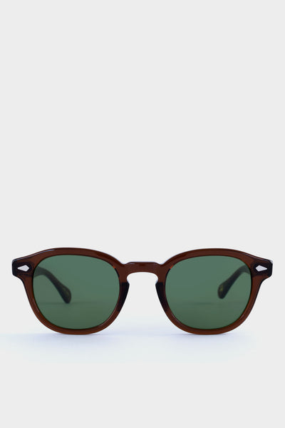Moscot Lemtosh Brown With Green Lens