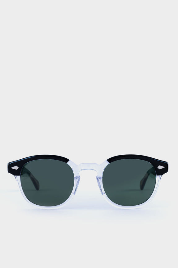 Moscot Lemtosh Black Clear With Green Lens