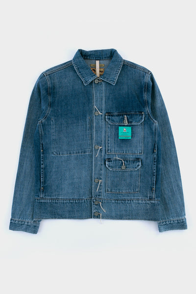 Nigel Cabourn Lybro Denim Hip Jacket Denim Blue
