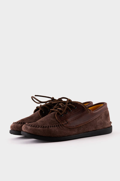 Quoddy Maliseet Custom Chocolate Suede