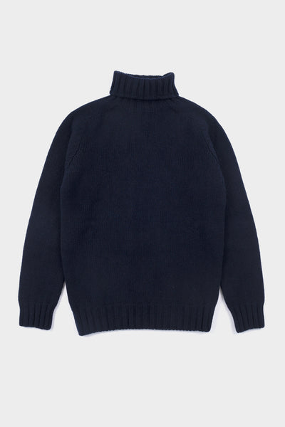 Seven.Stones Mens Chunky Roll Neck Knit Nero Navy