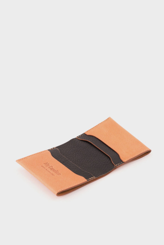 Ally Capellino Oliver Wallet: Tan/Black -  - 3