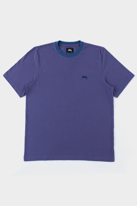 Stussy Mini Stripe Crew Navy
