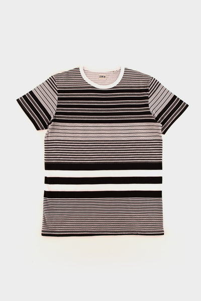 Multi Stripe T Shirt Black -