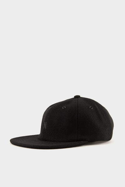 Norse Projects Moon Wool Flat Cap Boot Black