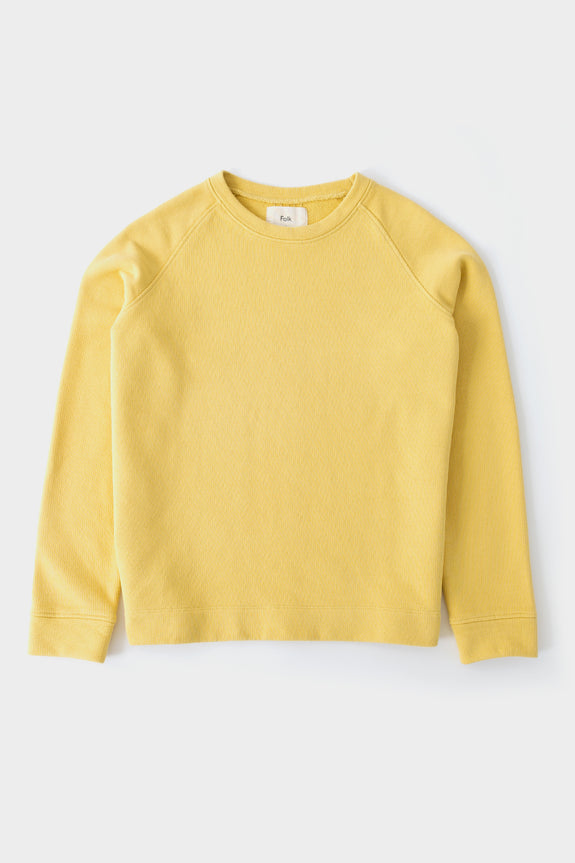 Folk Womens Multi Stitch Sweat Light Gold