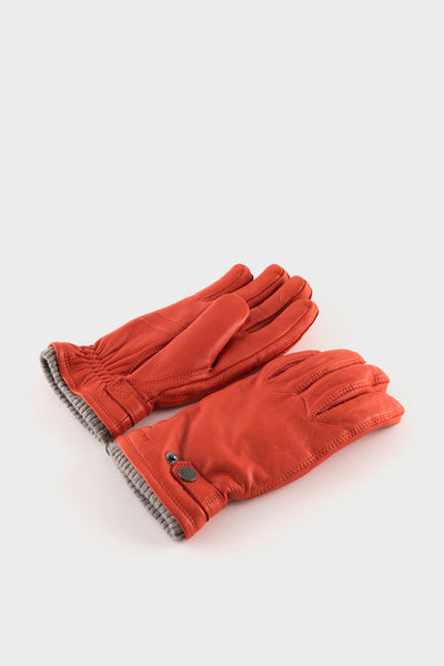 Hestra Nathan Leather Gloves Brick Red