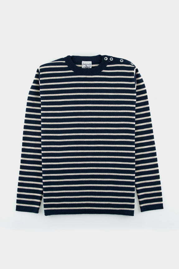 S.N.S Herning Naval Striped Sweater Still Blue