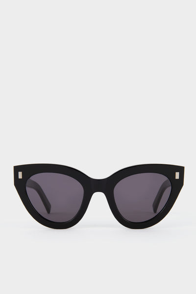 Monokel Neko Black Solid Grey Lens Sunglasses