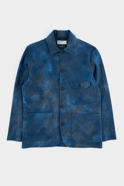 Universal Works Norfolk Bakers Jacket Blue