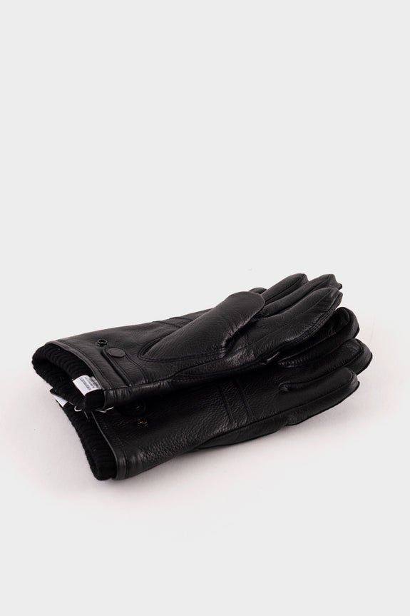 Norse Projects X Hestra Utsjo Elk Skin Gloves Black