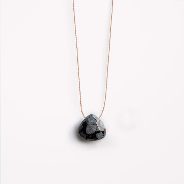 "Wanderlust Life 18"" Necklace Obsidian"