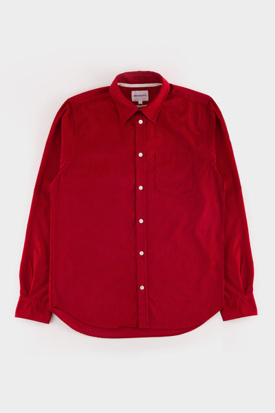 Norse Projects Osvald Corduroy Shirt Askja Red