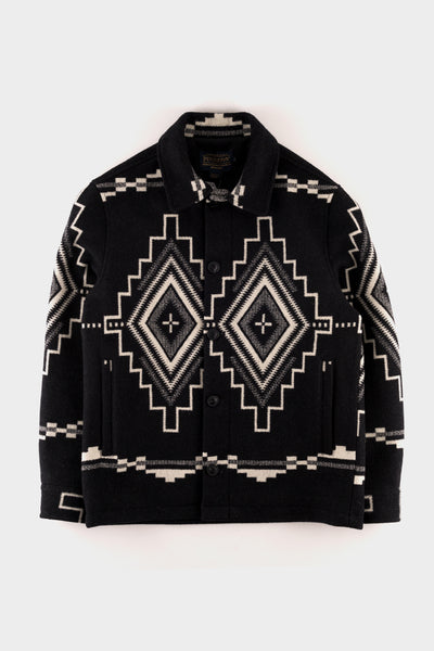Pendleton Black Mesa Button Front Jacquard Jacket