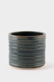 Dor & Tan Medium Planter - Brushed Blue