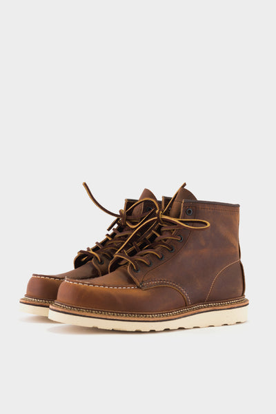 "Red Wing Rough and Tough Leather 6"" Moc Copper"