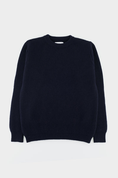 Albam Ribbed Crew Navy