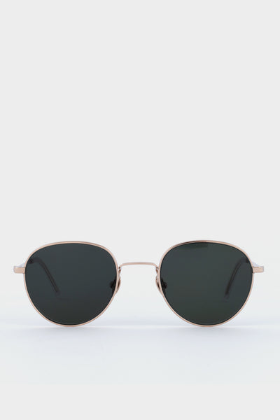 Monokel Rio Gold Solid Green Lens Sunglasses