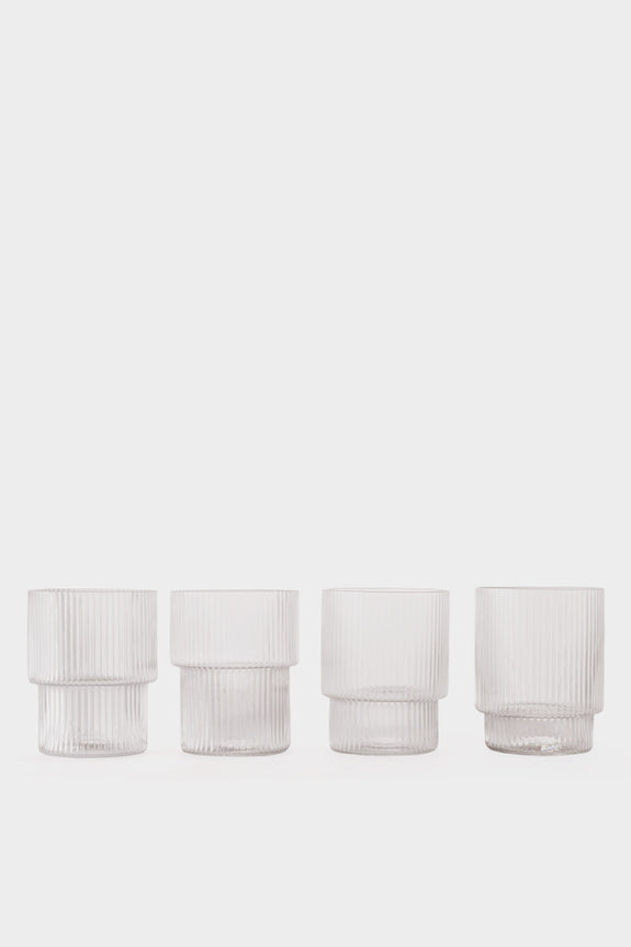 Ferm Living Ripple Glass (set of 4)