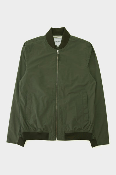 Norse Projects Ryan Crisp Cotton Jacket Dried Olive