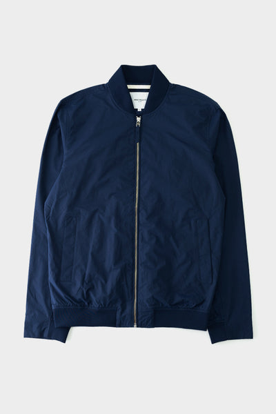Norse Projects Ryan Crisp Cotton Jacket Navy