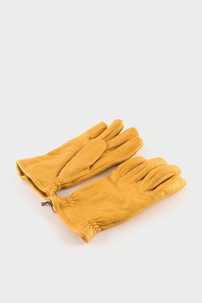 Hestra Sarna Elk Leather Gloves Natural Yellow