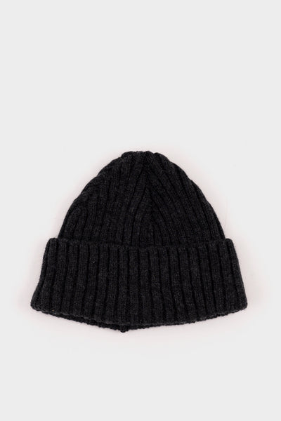 Seven.Stones Fold Up Beanie Lambswool Charcoal