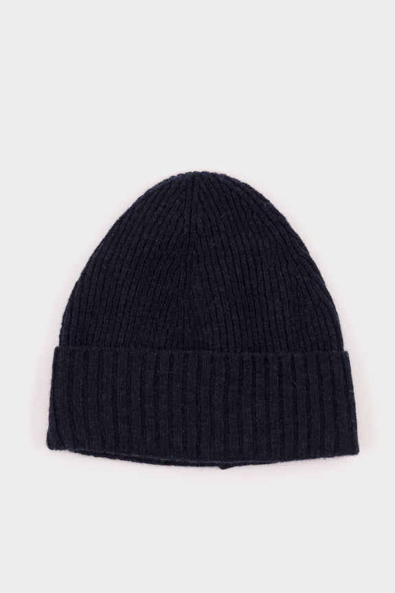 Seven.Stones Fold Up Beanie Hat Denim