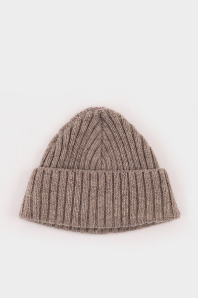 Seven.Stones Fold Up Beanie Lambswool Fawn
