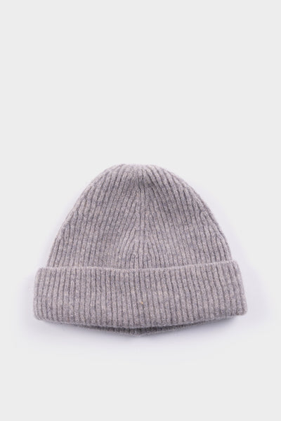 Seven.Stones Lambswool Short Stitch Beanie Light Grey