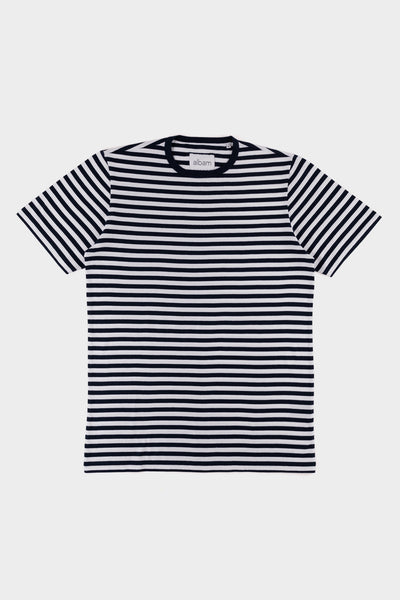 Albam Simple Stripe T Shirt navy White