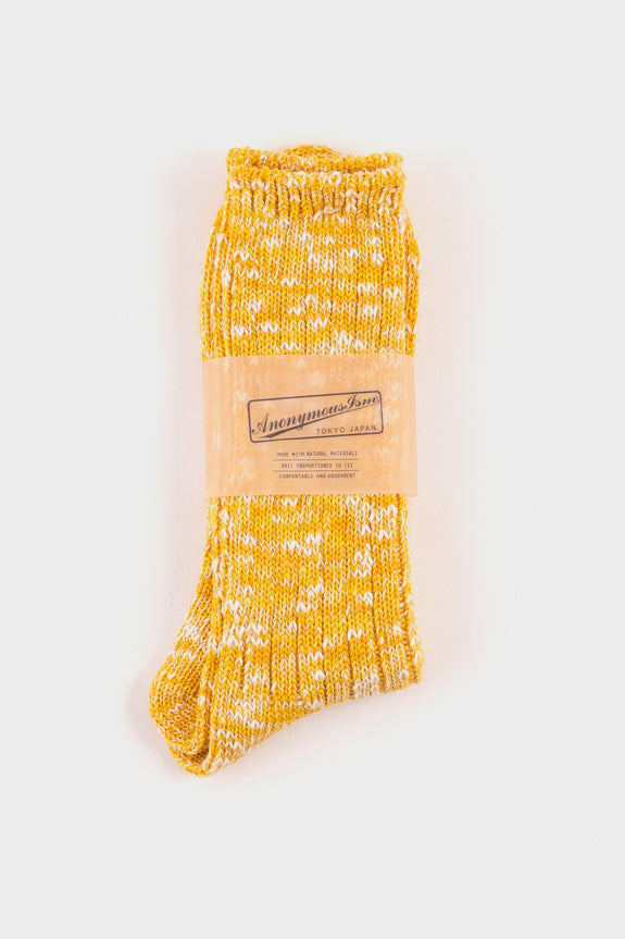 Anonymous Ism Slub Crew Socks Yellow