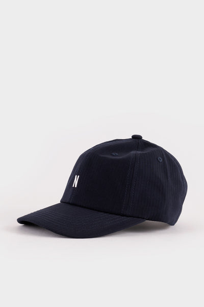 Norse Projects Seersucker Sports Cap - Dark Navy