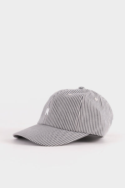Norse Projects Seersucker Sports Cap - Navy Stripe