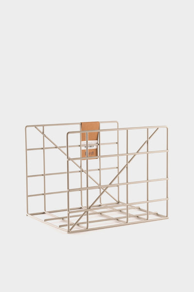 Ferm Living Square Magazine Holder - Light Grey