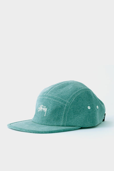 Stussy Stonewashed Canvas Camp Cap Green
