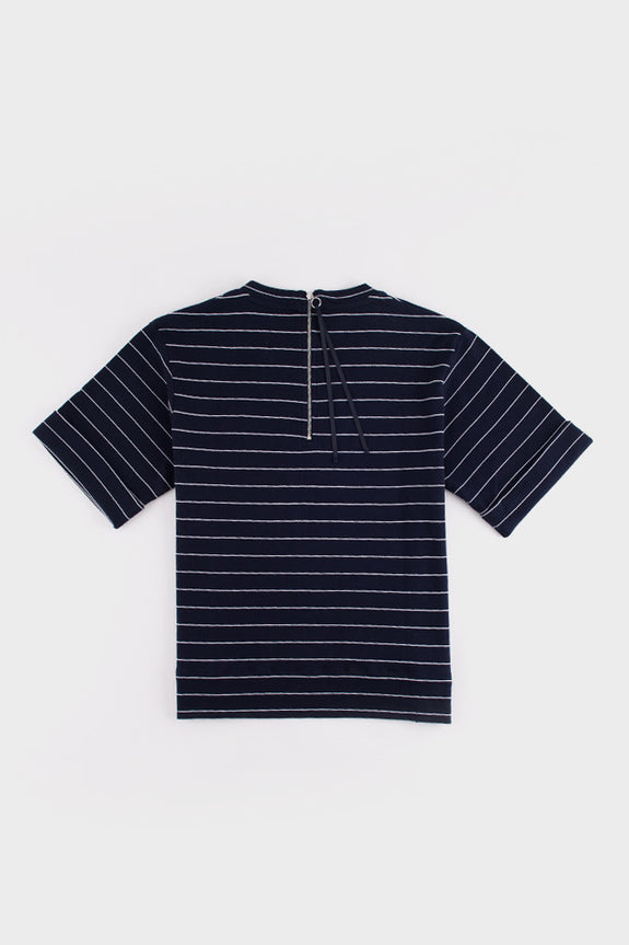 Statue Top Navy and White Stripe -  - 2