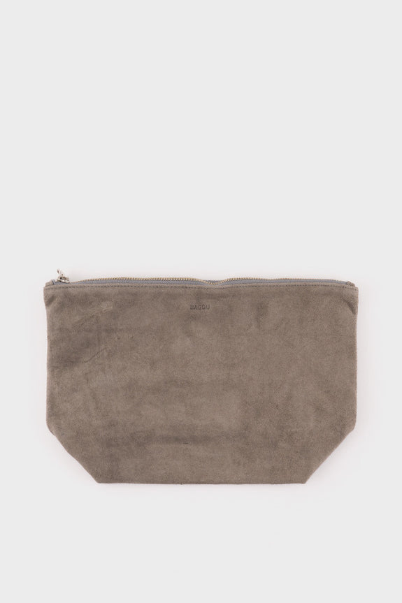 Stash Clutch Large Grey Suede -  - 1