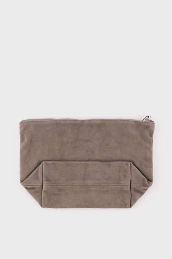Stash Clutch Large Grey Suede -  - 2