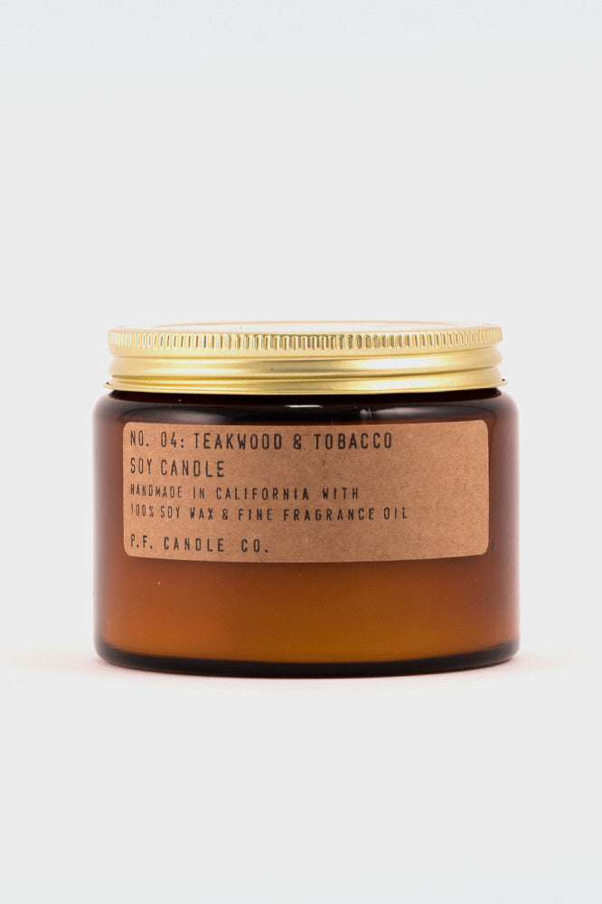 P.F Candle Company Teakwood and Tabacco Large -