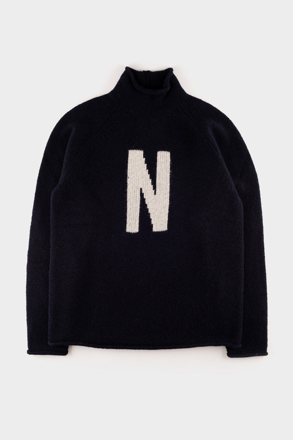 Norse Projects Thore N Intarsia Dark Navy