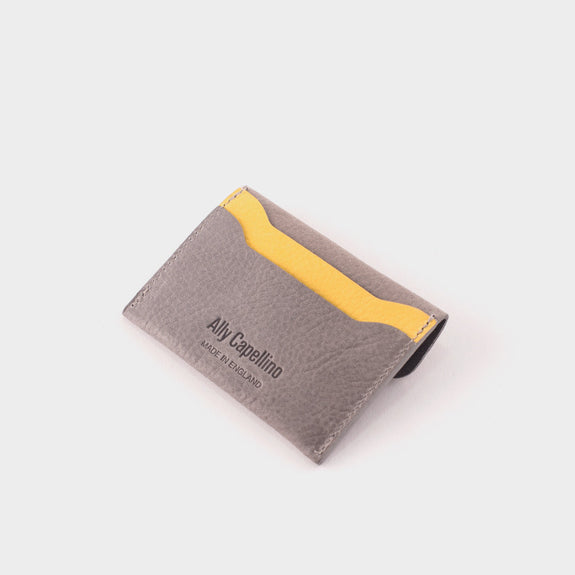 Ally Capellino Tom Card Holder: Grey/Yellow -  - 3