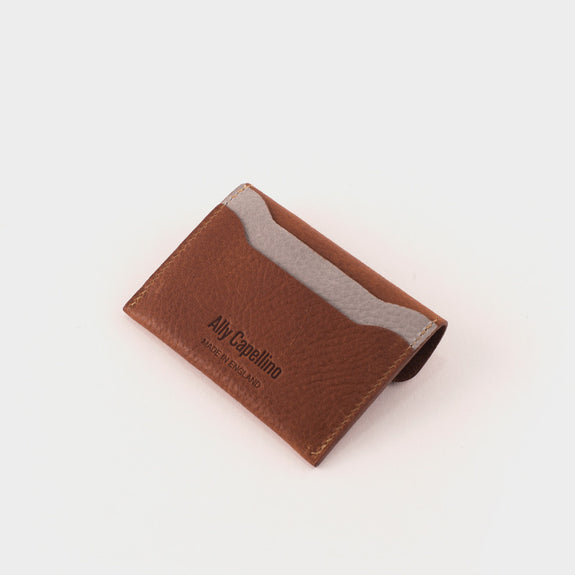 Ally Capellino Tom Card Holder: Tan/Grey -  - 2