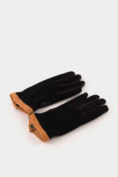 Hestra Deerskin Wool Tricot Gloves Black