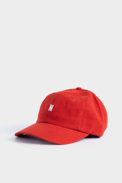 Norse Projects Twill Sports Cap Carmine Red