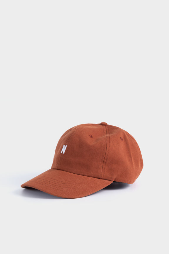 Norse Projects Twill Sports Cap Madder Brown