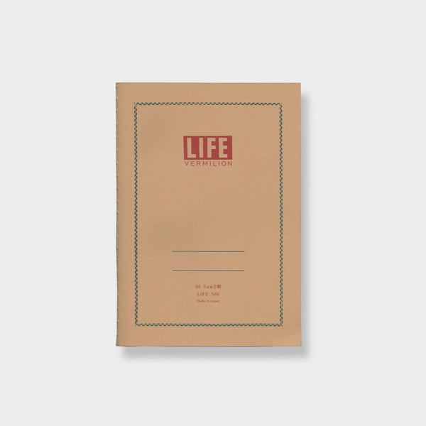 Life Co. Vermilion B6 Notebook -