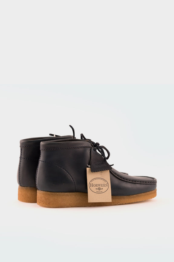 Wallabee Boot Horween Leather Petrol Blue