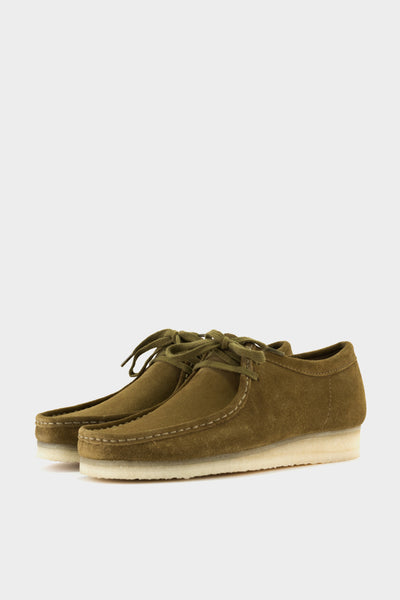 Clarks Originals Wallabee Olive Suede